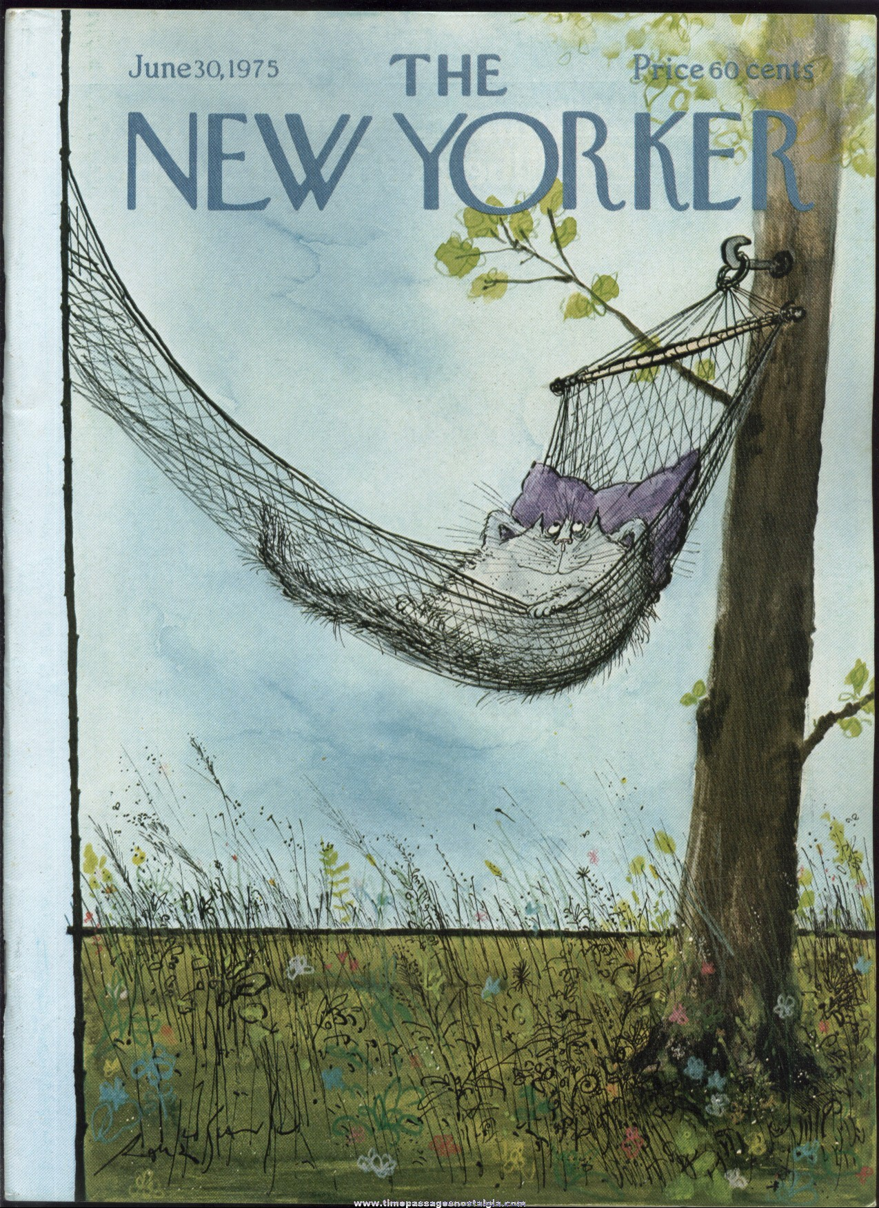 New Yorker Magazine - June 30, 1975 - Cover by Ronald Searle