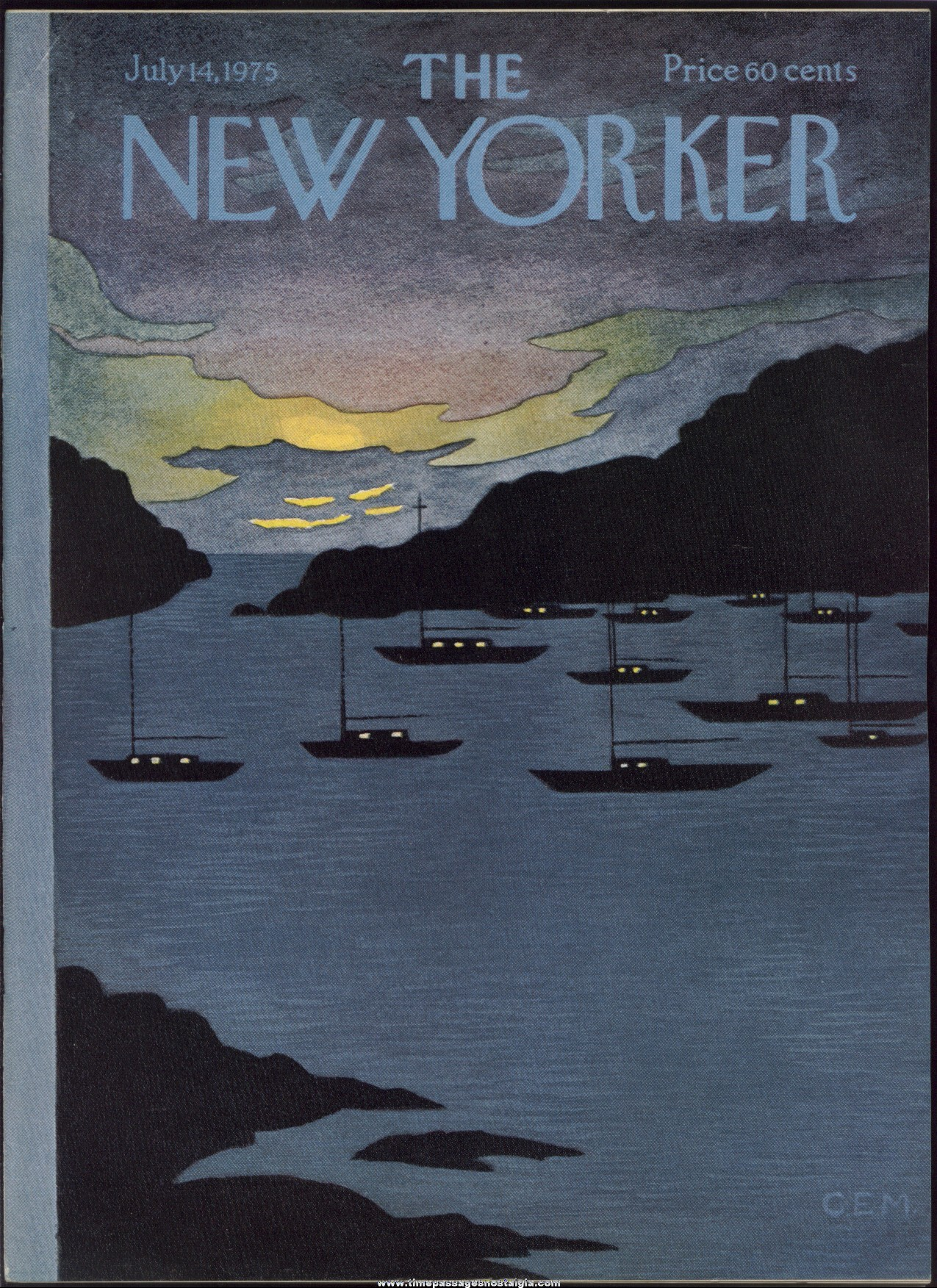 New Yorker Magazine - July 14, 1975 - Cover by Charles E. Martin