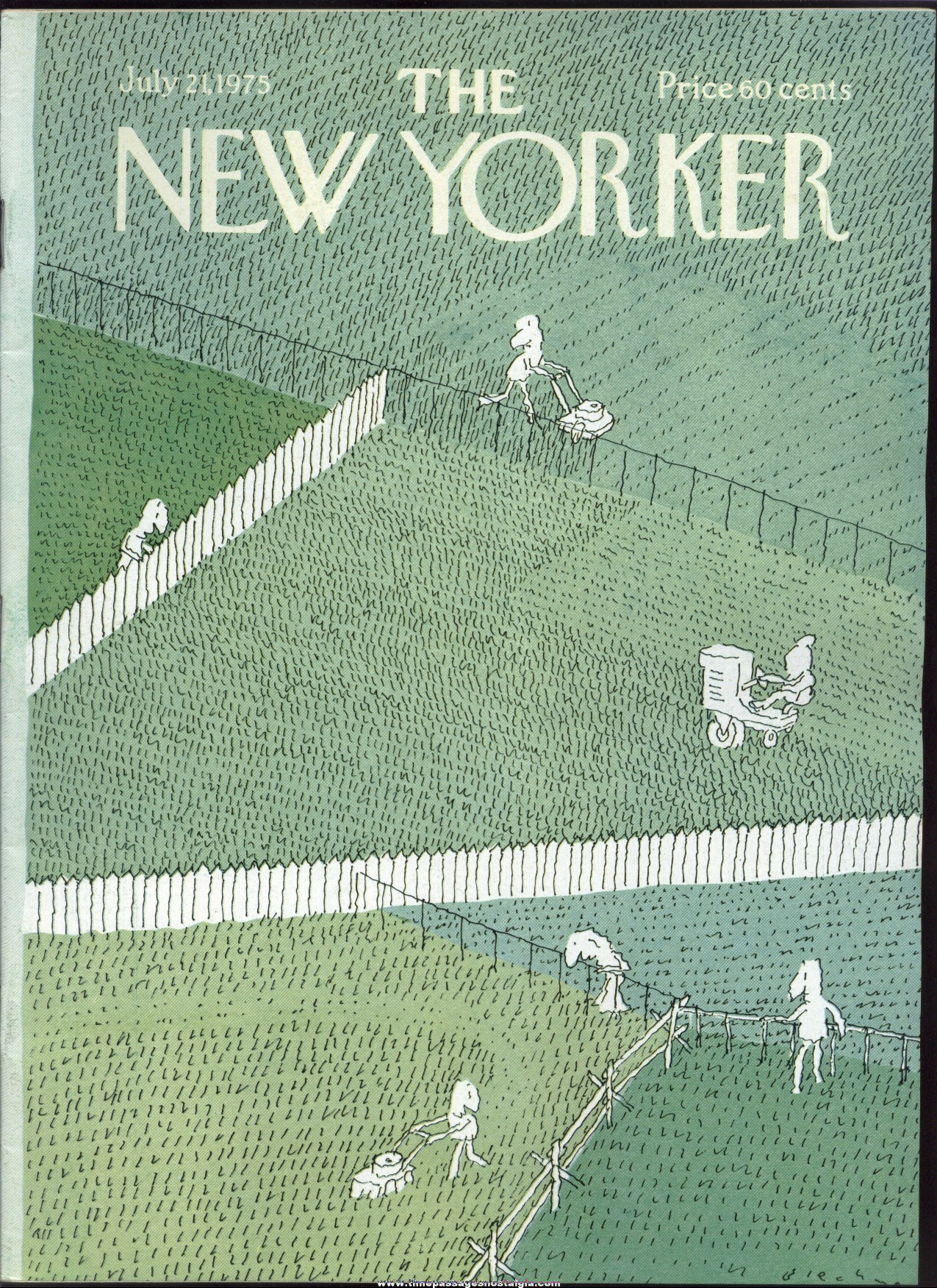 New Yorker Magazine - July 21, 1975 - Cover by R. O. Blechman