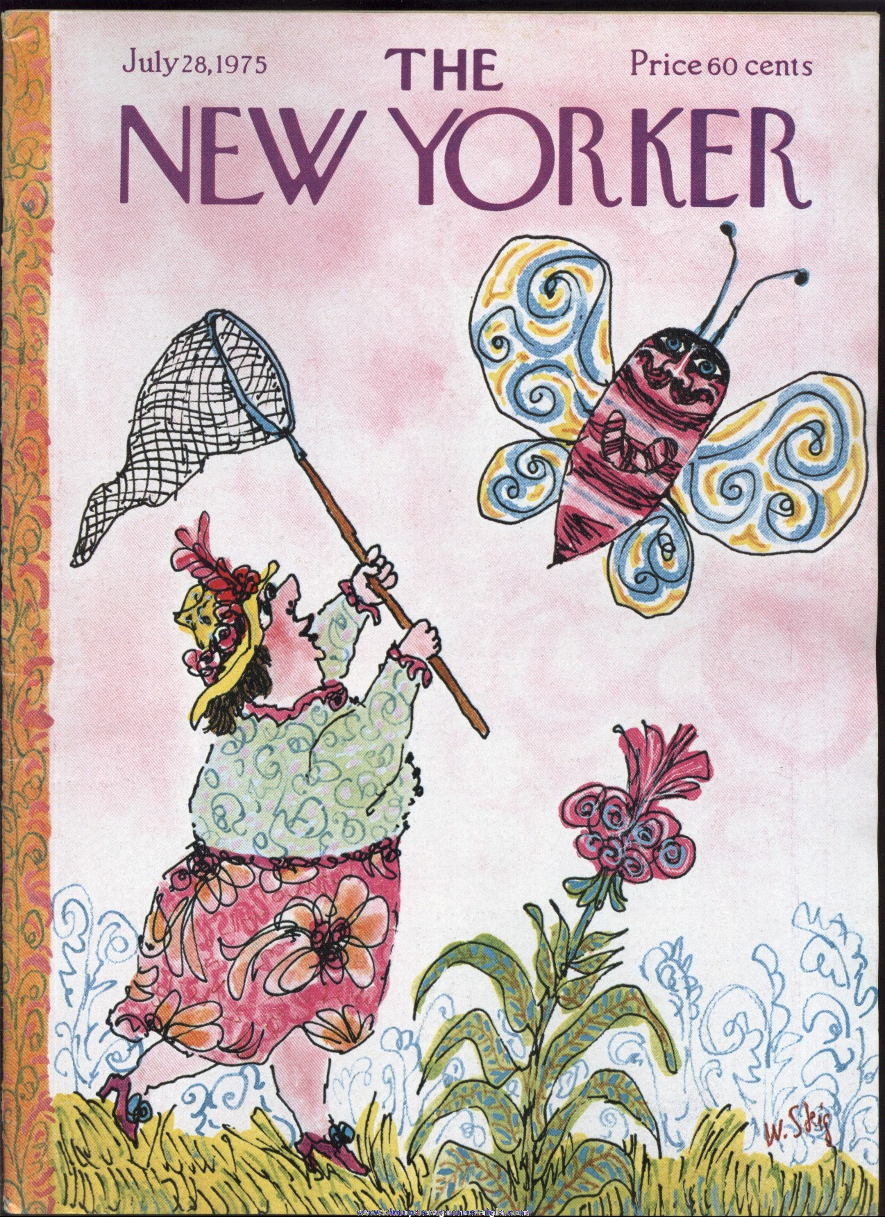New Yorker Magazine - July 28, 1975 - Cover by William Steig