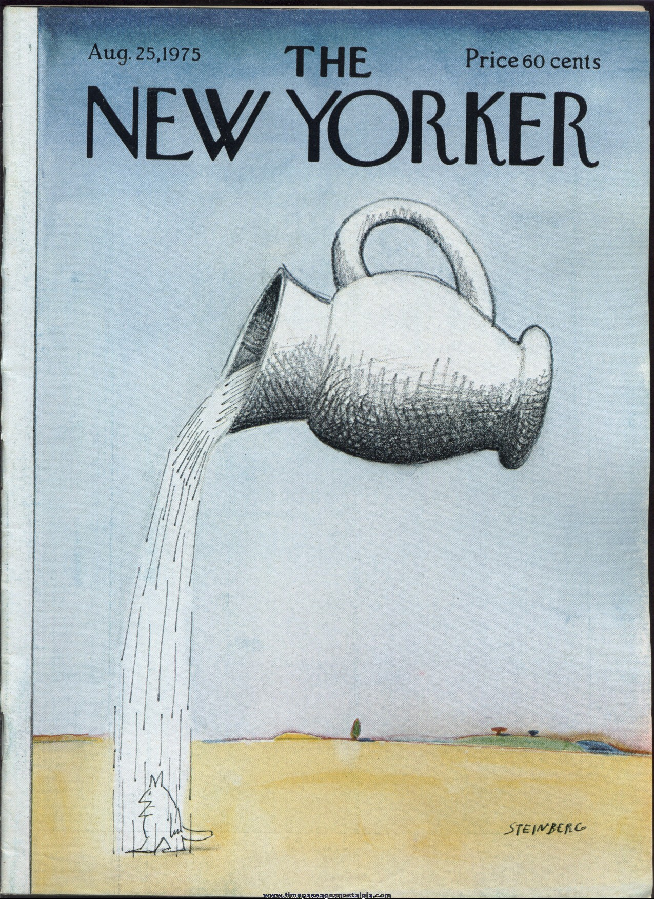 New Yorker Magazine - August 25, 1975 - Cover by Saul Steinberg