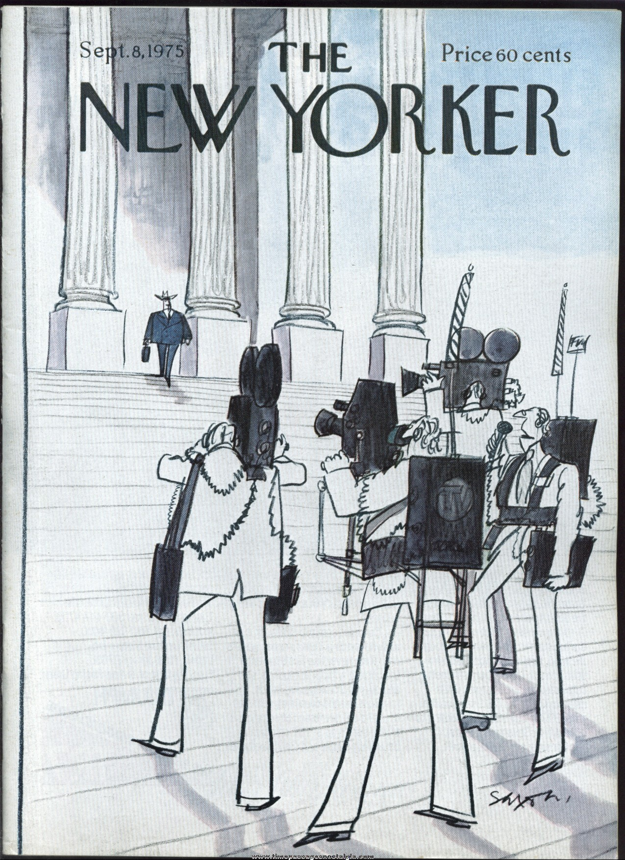 New Yorker Magazine - September 8, 1975 - Cover by Charles Saxon