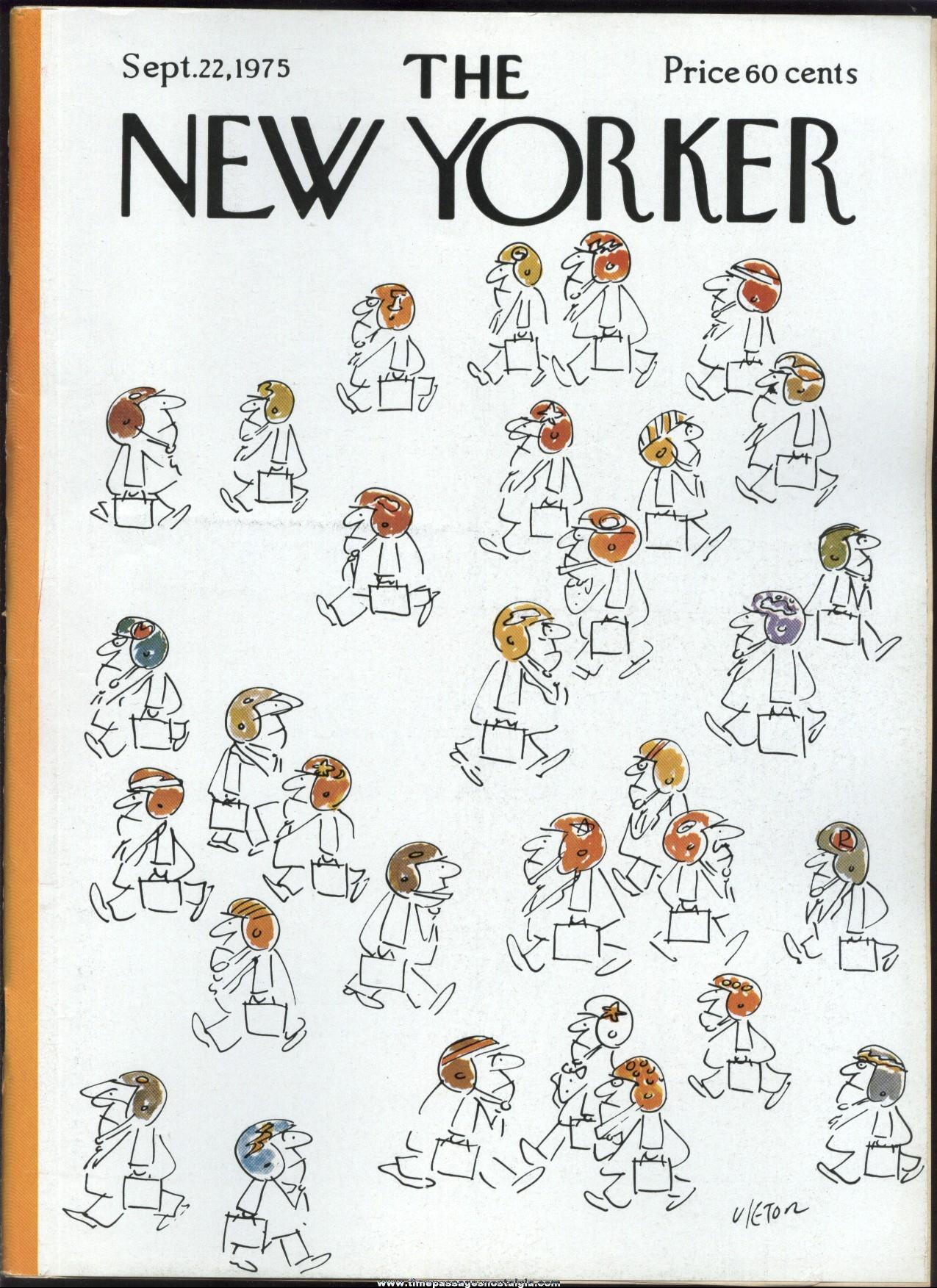 New Yorker Magazine - September 22, 1975 - Cover by Dean Vietor