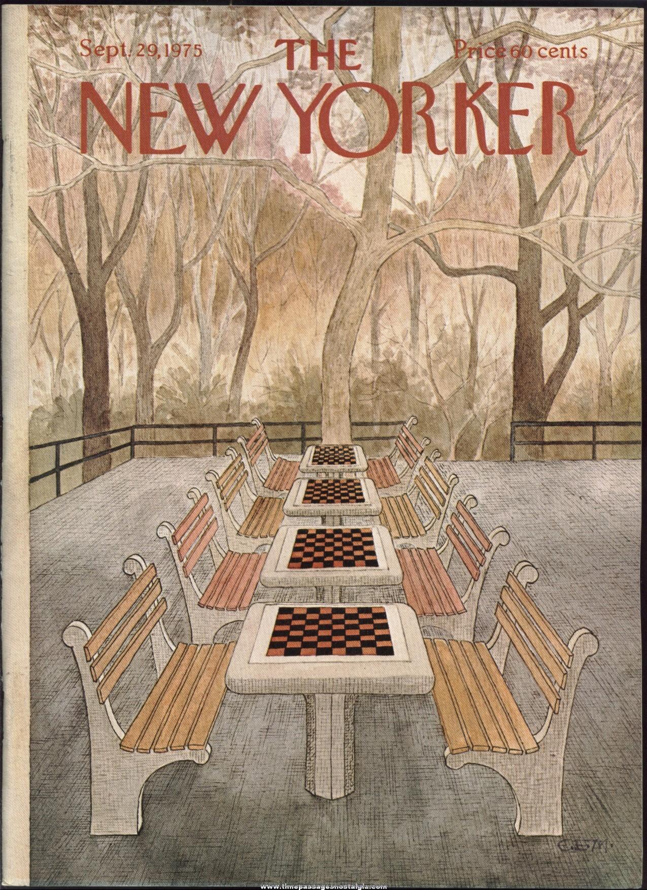 New Yorker Magazine - September 29, 1975 - Cover by Charles E. Martin