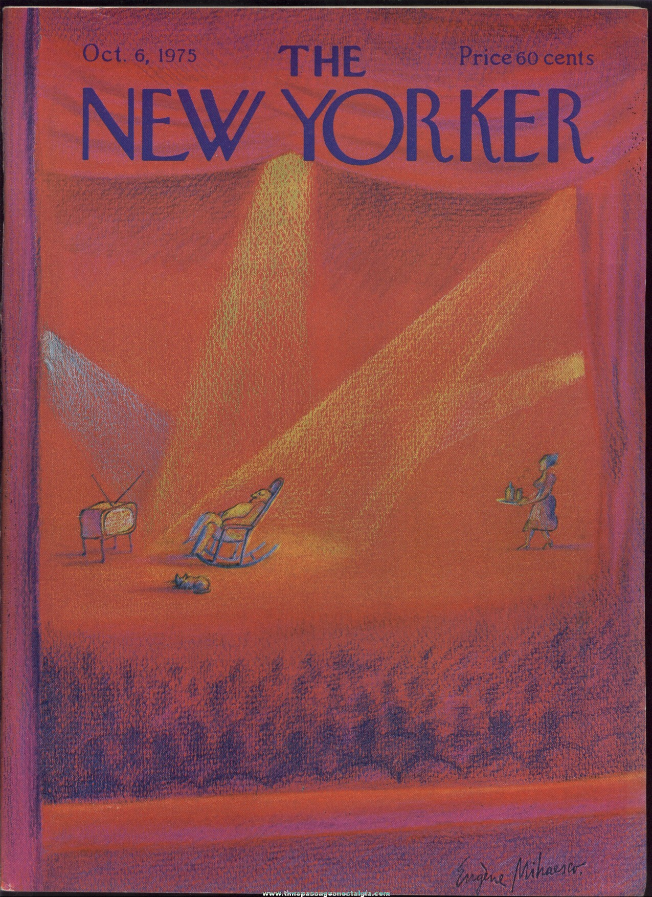 New Yorker Magazine - October 6, 1975 - Cover by Eugene Mihaesco