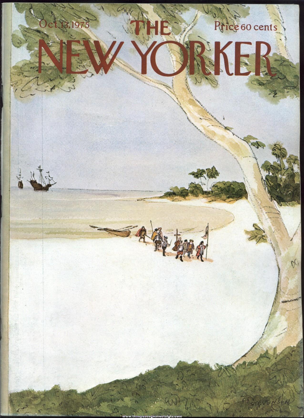 New Yorker Magazine - October 13, 1975 - Cover by James Stevenson