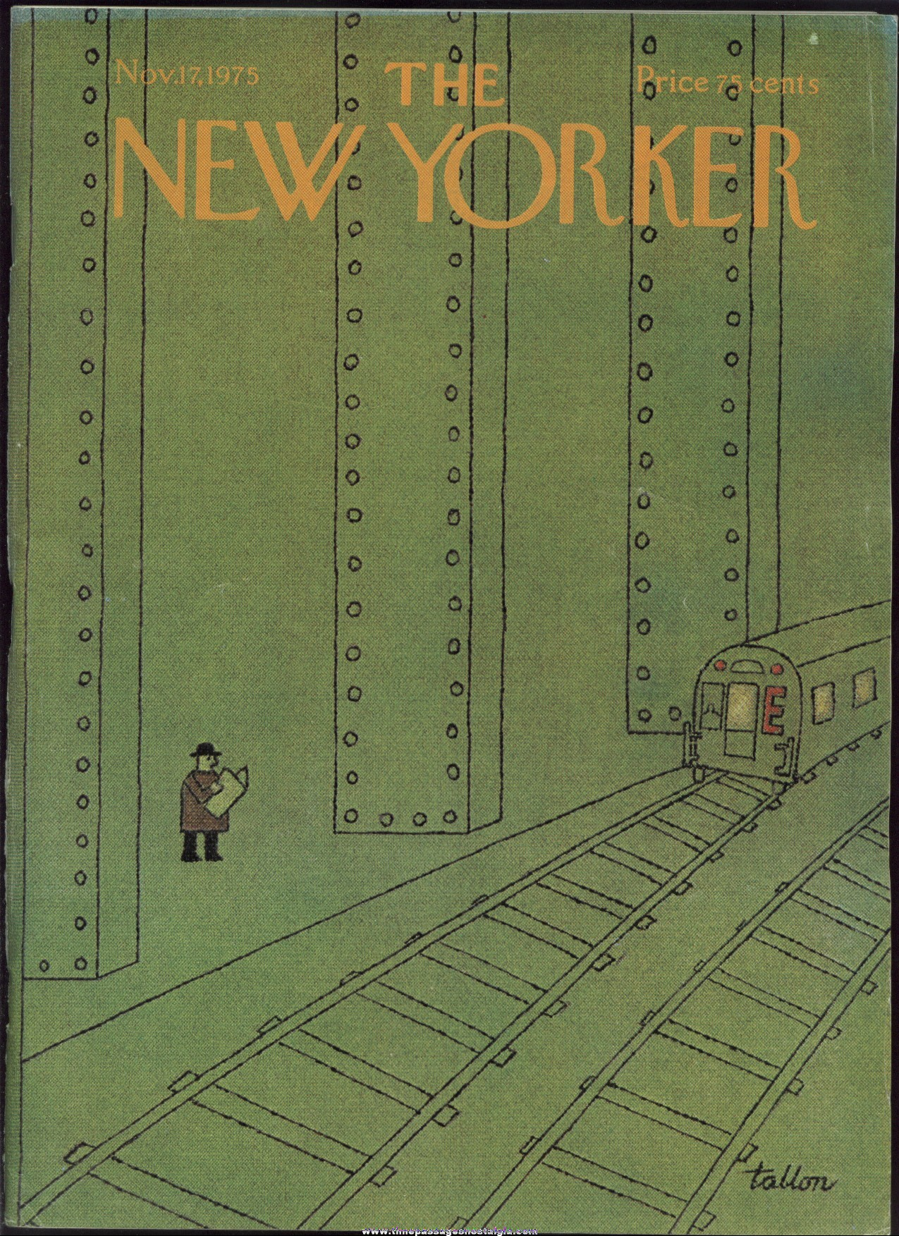 New Yorker Magazine - November 17, 1975 - Cover by Robert Tallon