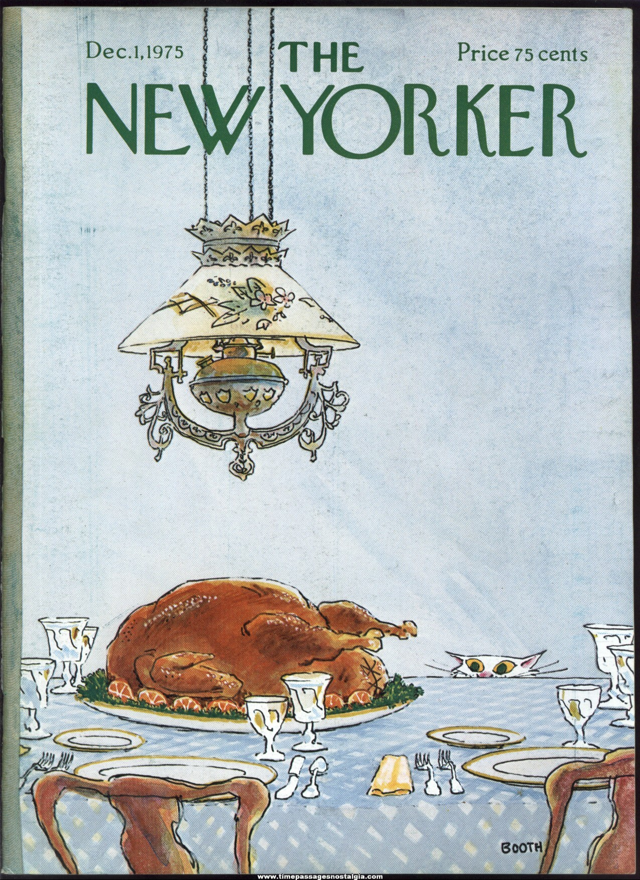 New Yorker Magazine - December 1, 1975 - Cover by George Booth