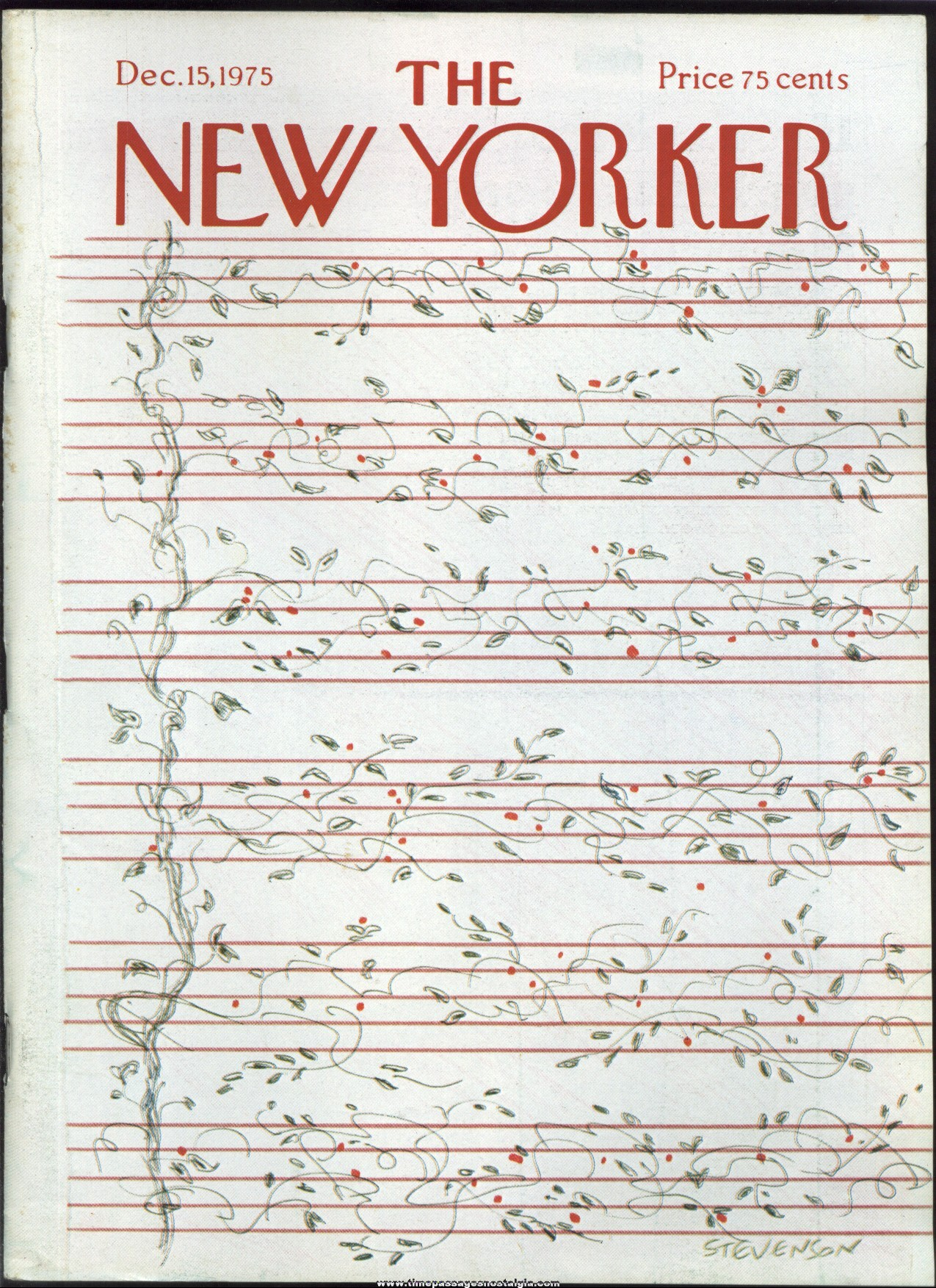 New Yorker Magazine - December 15, 1975 - Cover by James Stevenson