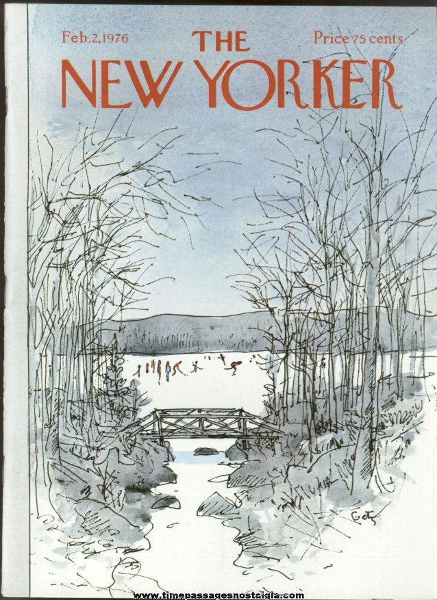 New Yorker Magazine - February 2, 1976 - Cover by Arthur Getz