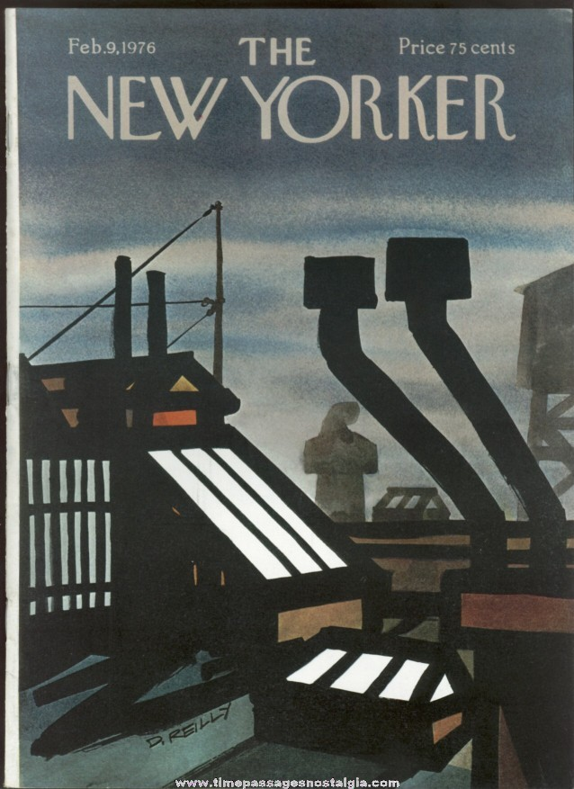 New Yorker Magazine - February 9, 1976 - Cover by Donald Reilly