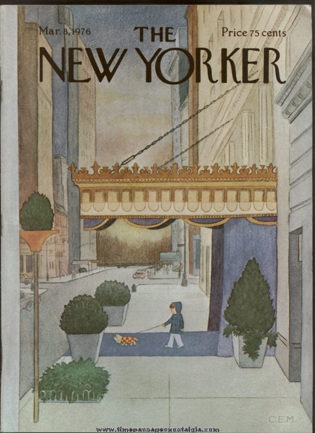 New Yorker Magazine - March 8, 1976 - Cover by Charles E. Martin