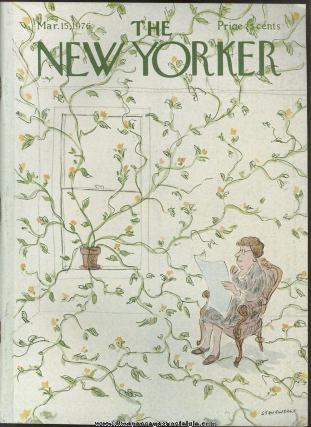 New Yorker Magazine - March 15, 1976 - Cover by James Stevenson
