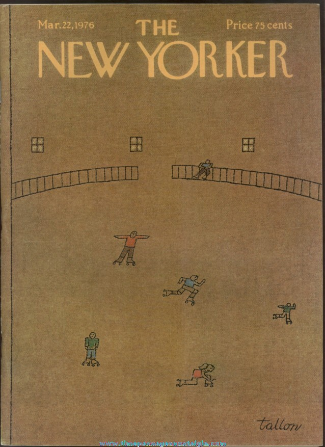 New Yorker Magazine - March 22, 1976 - Cover by Robert Tallon