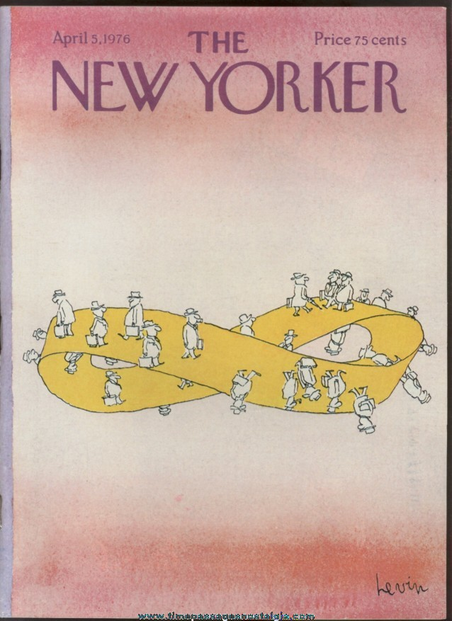 New Yorker Magazine - April 5, 1976 - Cover by Arnie Levin