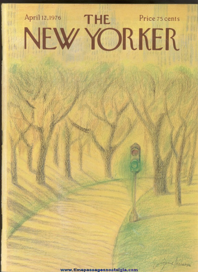 New Yorker Magazine - April 12, 1976 - Cover by Eugene Mihaesco