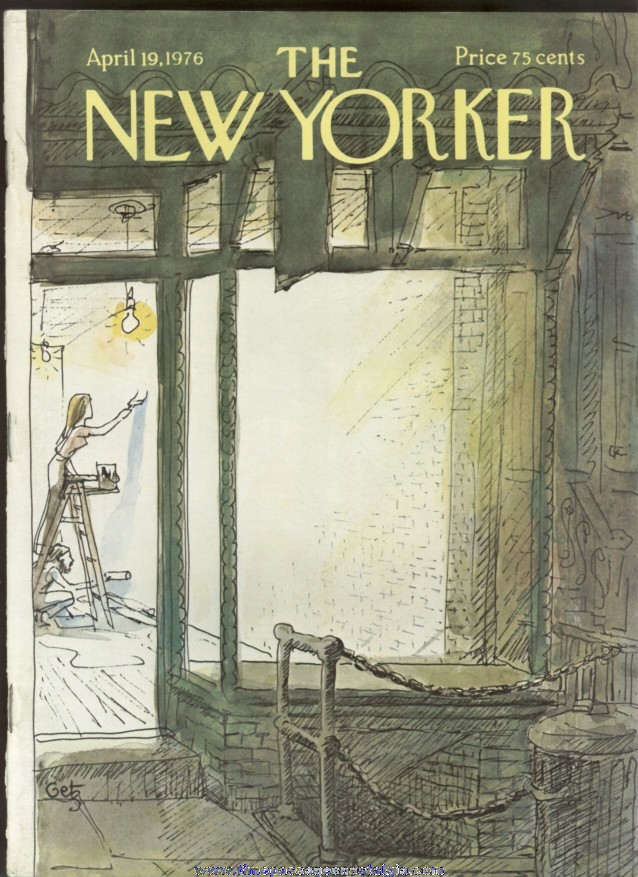 New Yorker Magazine - April 19, 1976 - Cover by Arthur Getz