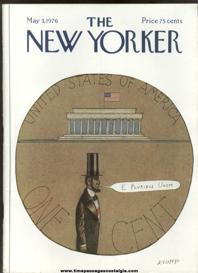 New Yorker Magazine - May 3, 1976 - Cover by Saul Steinberg
