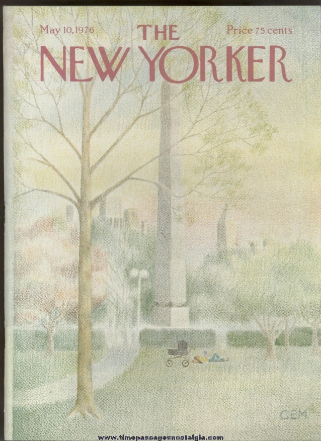 New Yorker Magazine - May 10, 1976 - Cover by Charles E. Martin