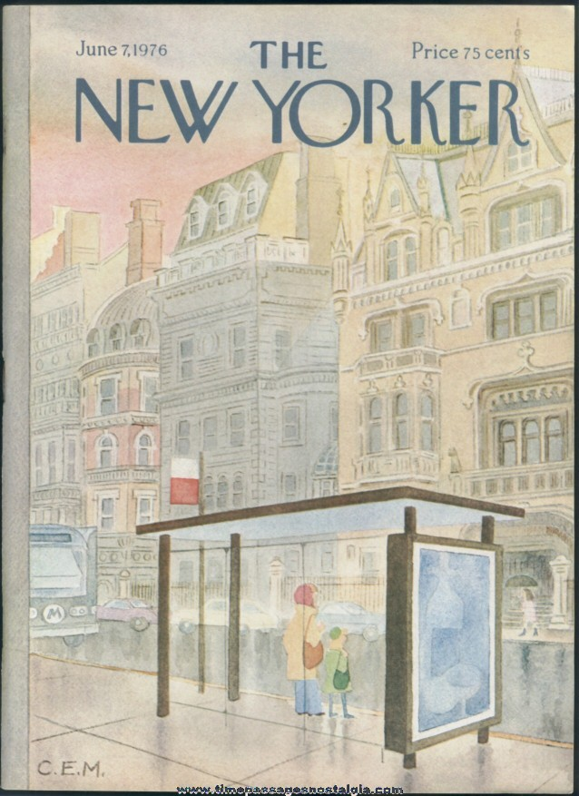 New Yorker Magazine - June 7, 1976 - Cover by Charles E. Martin