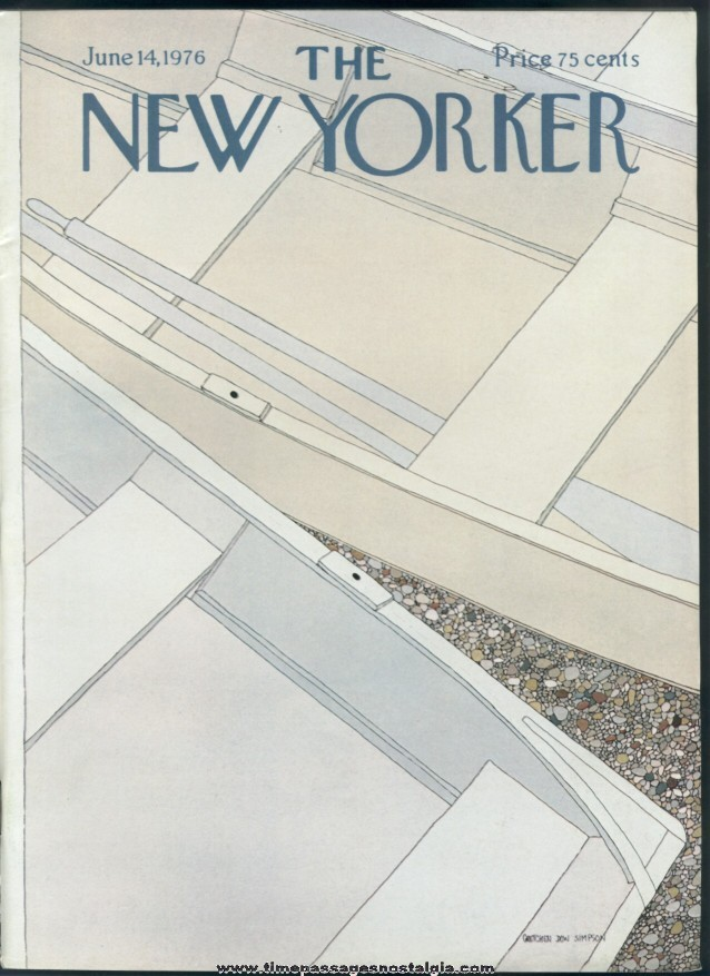New Yorker Magazine - June 14, 1976 - Cover by Gretchen Dow Simpson