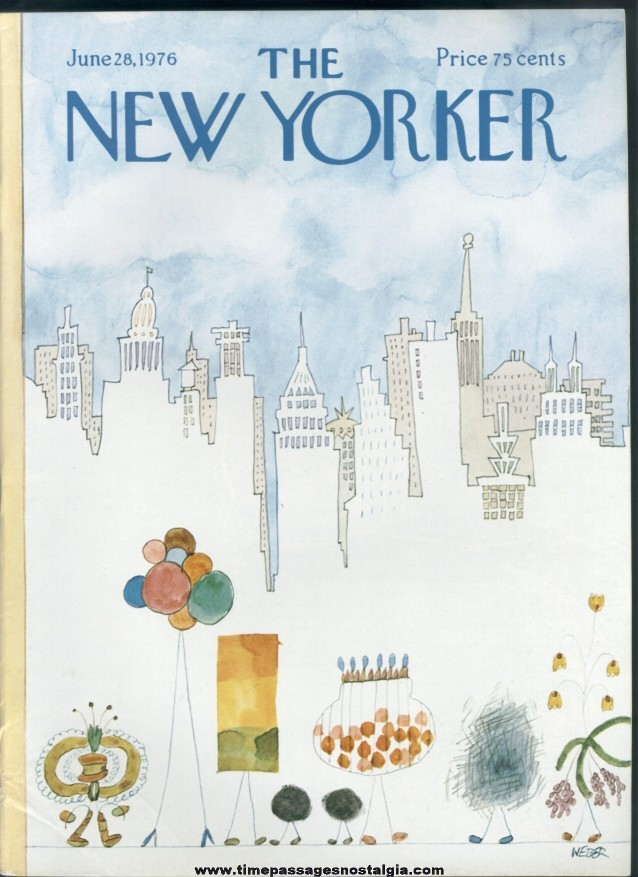 New Yorker Magazine - June 28, 1976 - Cover by Robert Weber