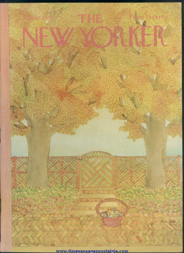New Yorker Magazine - July 12, 1976 - Cover by Jenni Oliver