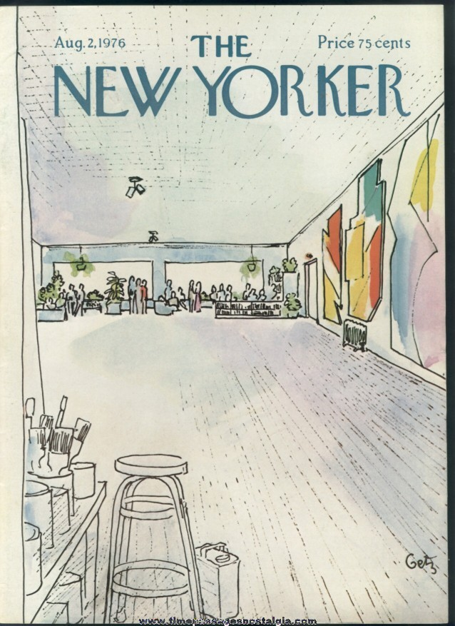 New Yorker Magazine - August 2, 1976 - Cover by Arthur Getz