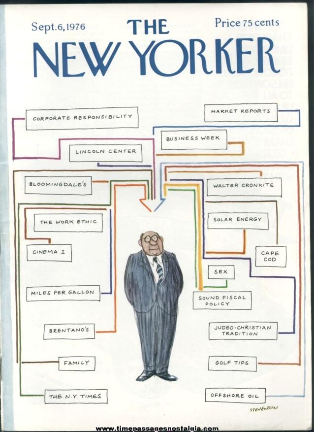 New Yorker Magazine - September 6, 1976 - Cover by James Stevenson