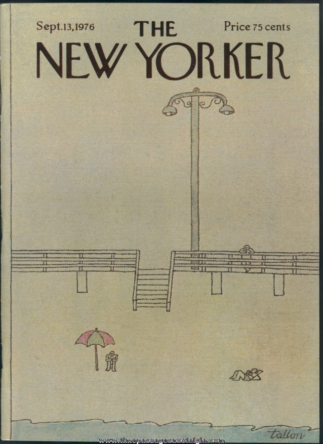 New Yorker Magazine - September 13, 1976 - Cover by Robert Tallon