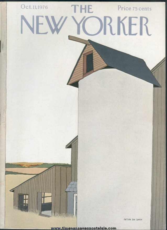 New Yorker Magazine - October 11, 1976 - Cover by Gretchen Dow Simpson