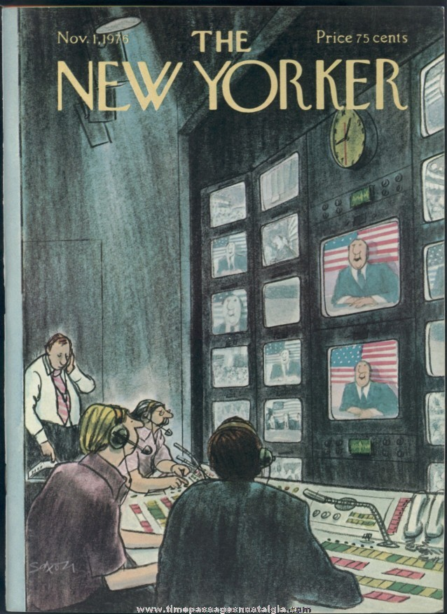 New Yorker Magazine - November 1, 1976 - Cover by Charles Saxon