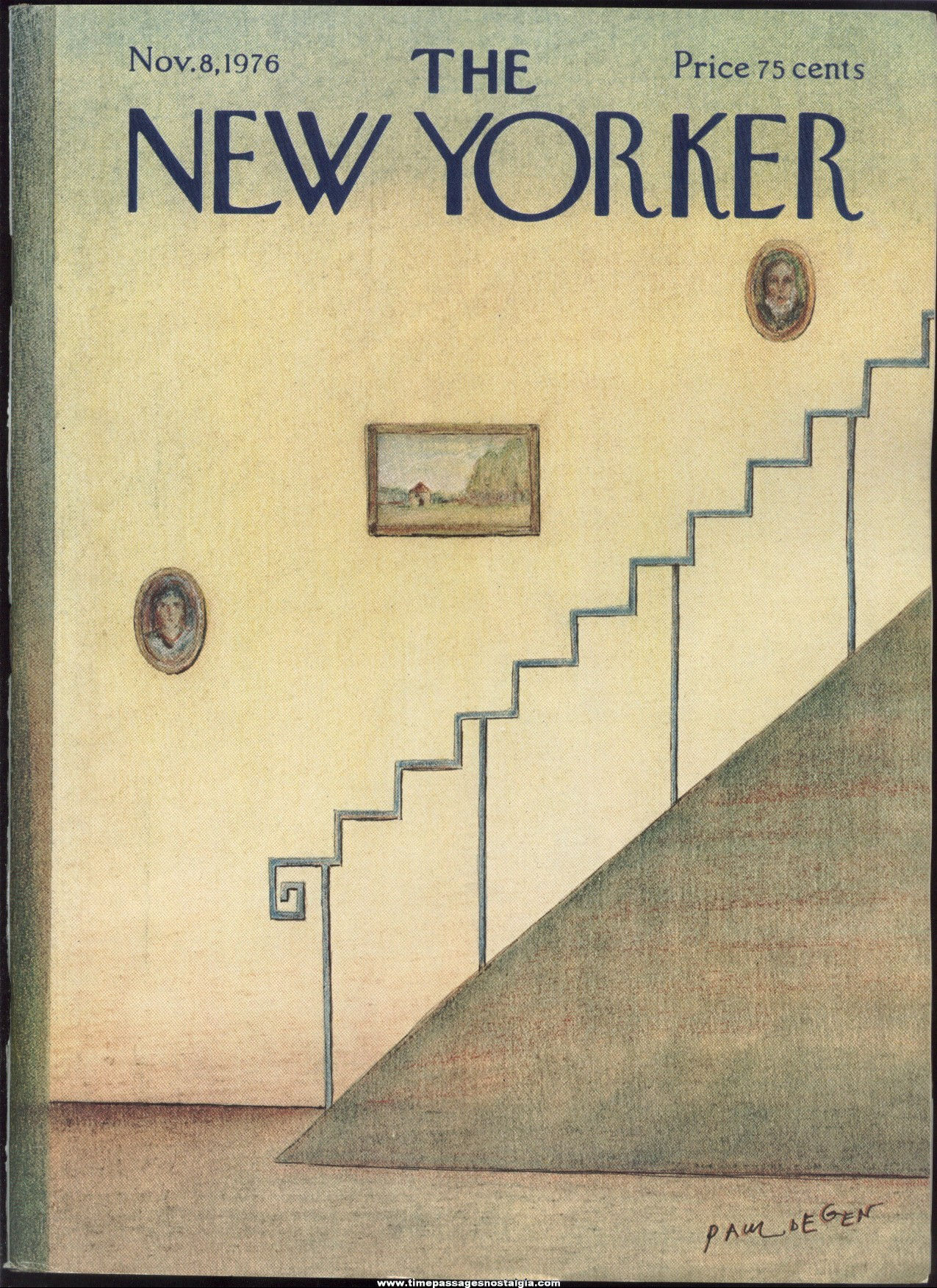 New Yorker Magazine - November 8, 1976 - Cover by Paul Degen