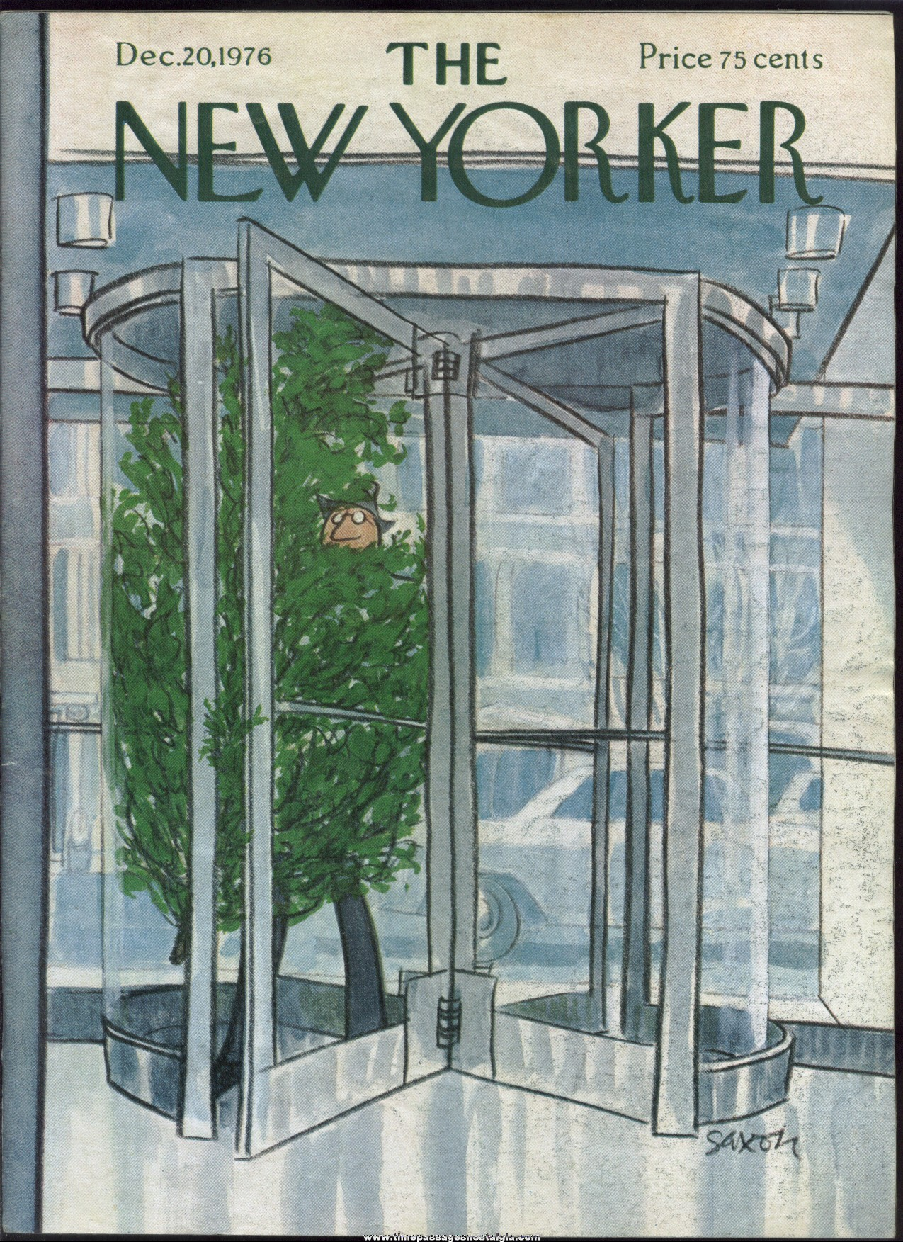 New Yorker Magazine - December 20, 1976 - Cover by Charles Saxon
