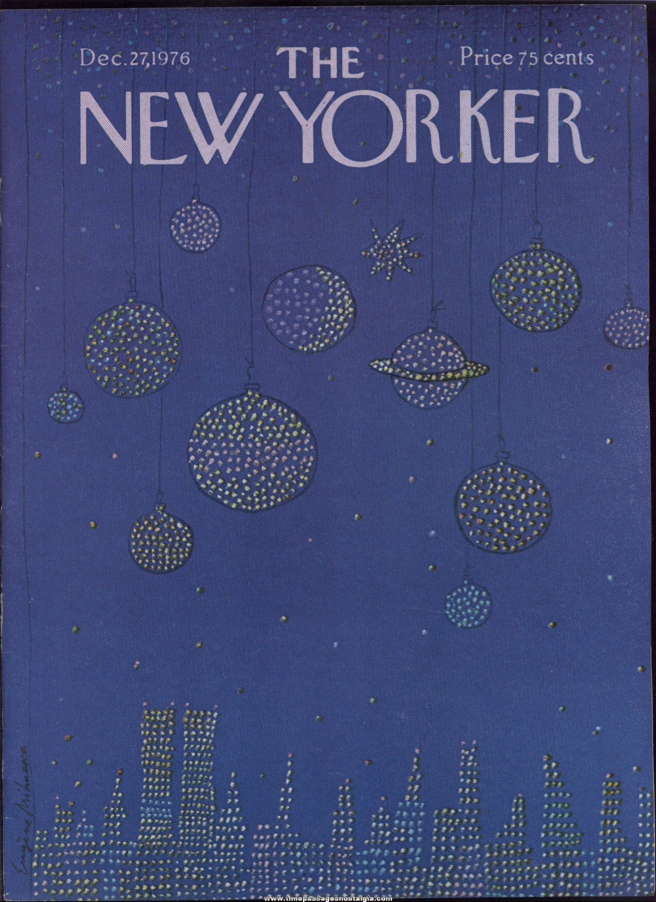 New Yorker Magazine - December 27, 1976 - Cover by Eugene Mihaesco