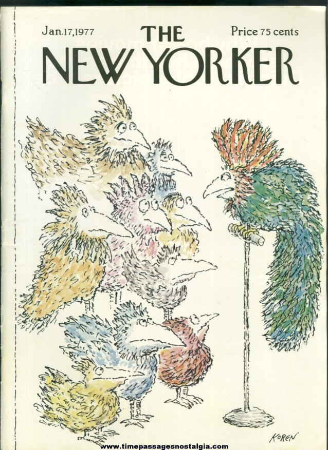 New Yorker Magazine - January 17, 1977 - Cover by Edward Koren
