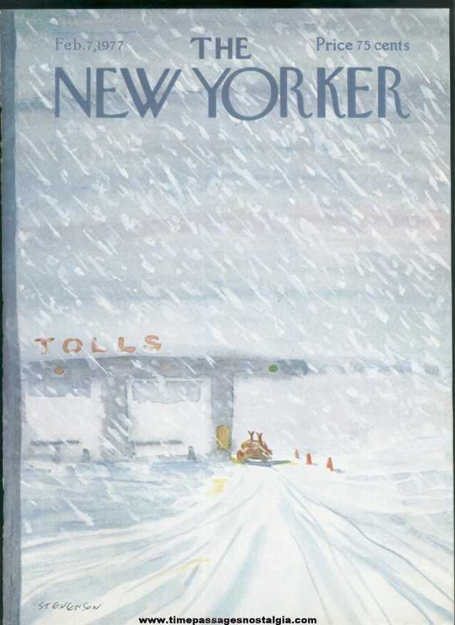 New Yorker Magazine - February 7, 1977 - Cover by James Stevenson