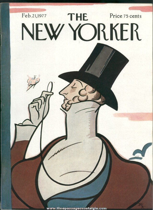 New Yorker Magazine - February 21, 1977 - Cover by Rea Irvin