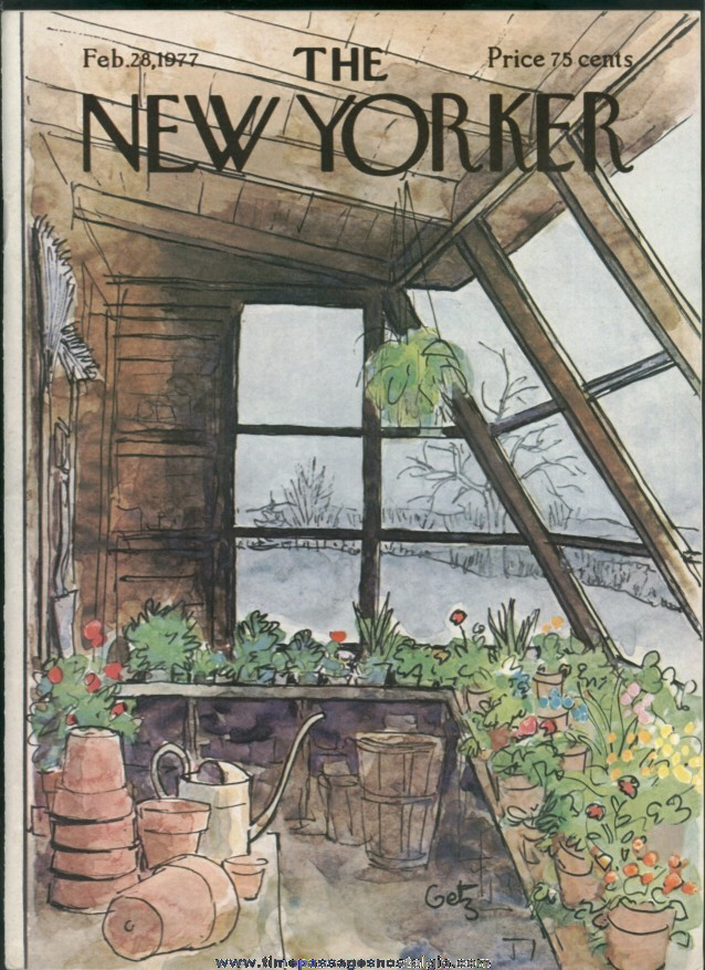 New Yorker Magazine - February 28, 1977 - Cover by Arthur Getz