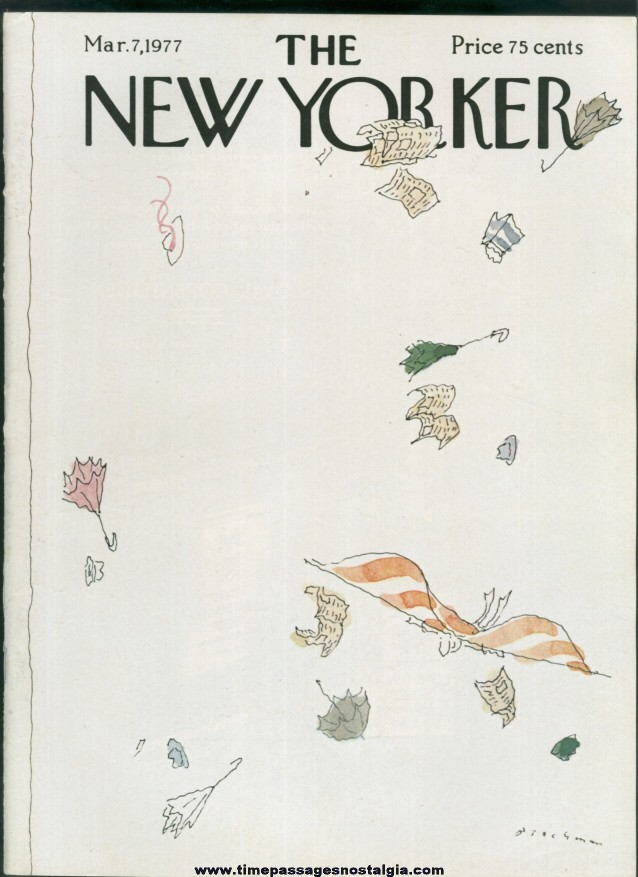 New Yorker Magazine - March 7, 1977 - Cover by R. O. Blechman