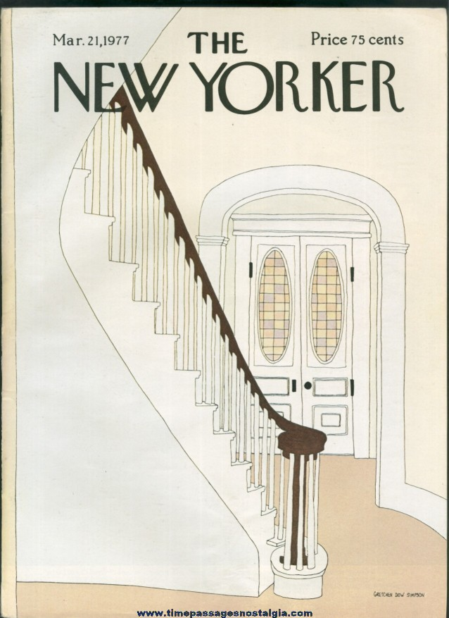New Yorker Magazine - March 21, 1977 - Cover by Gretchen Dow Simpson