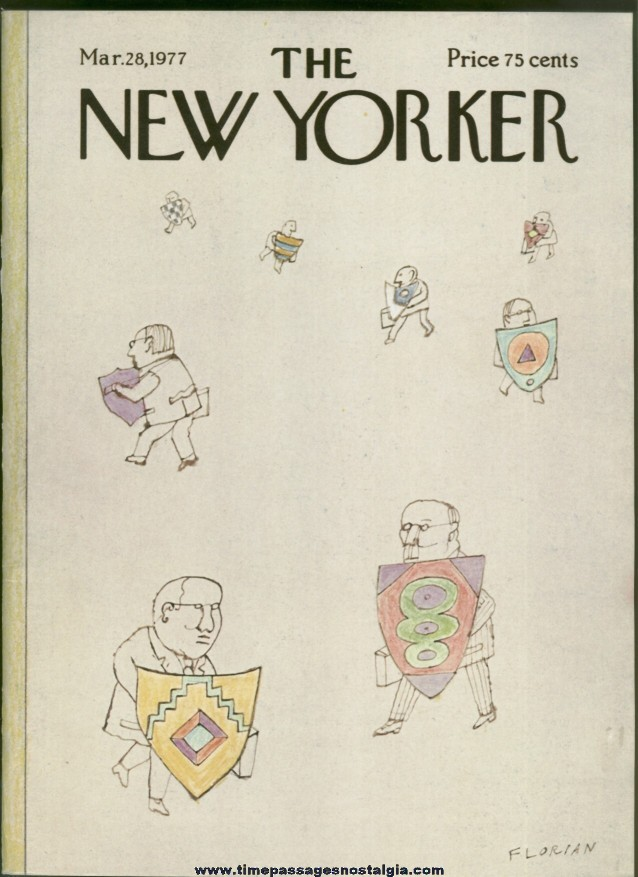 New Yorker Magazine - March 28, 1977 - Cover by Douglas Florian