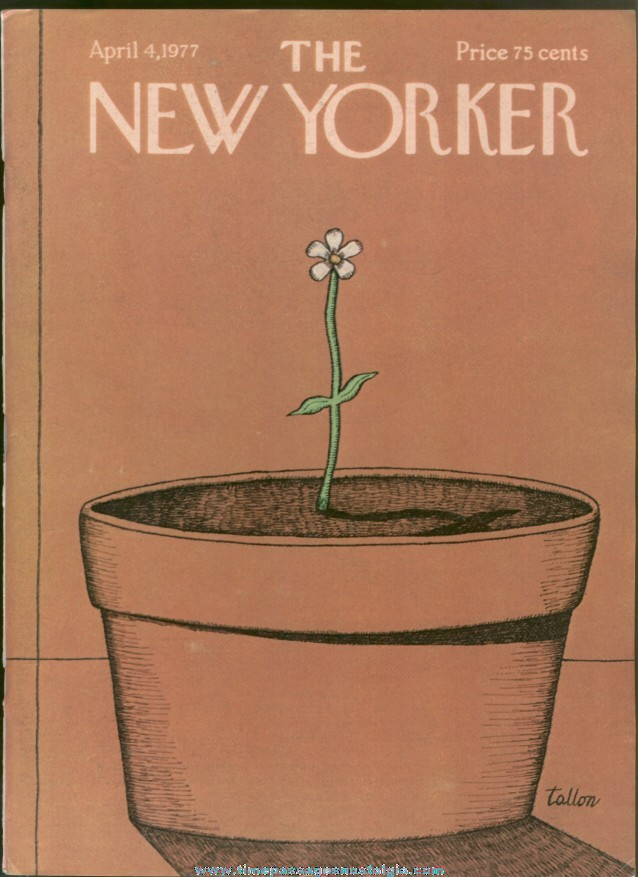 New Yorker Magazine - April 4, 1977 - Cover by Robert Tallon