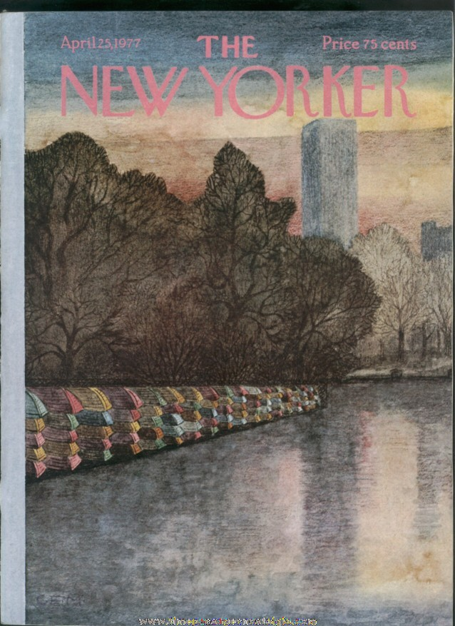 New Yorker Magazine - April 25, 1977 - Cover by Charles E. Martin