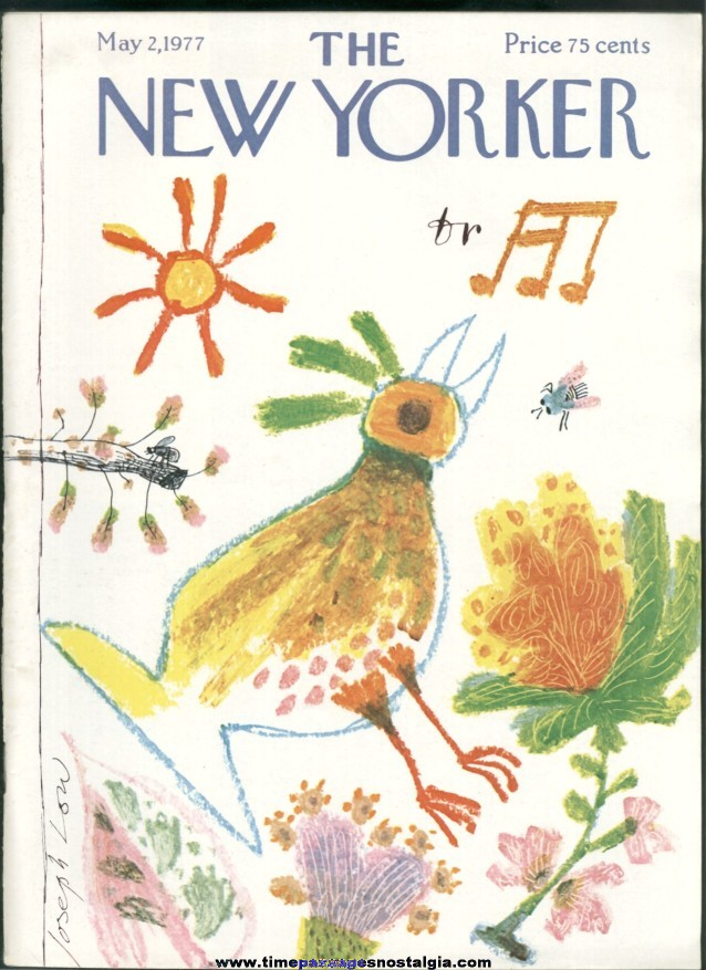 New Yorker Magazine - May 2, 1977 - Cover by Joseph Low