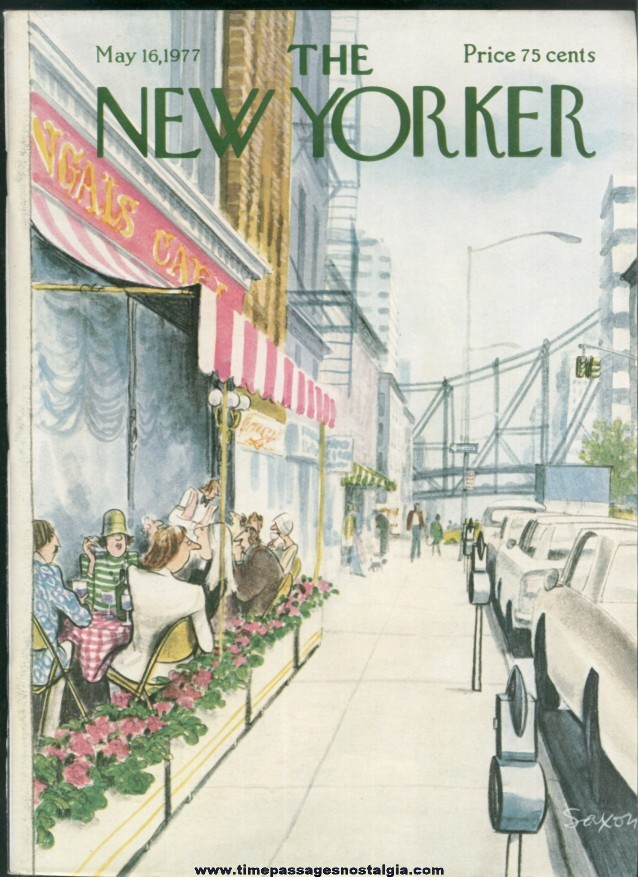 New Yorker Magazine - May 16, 1977 - Cover by Charles Saxon
