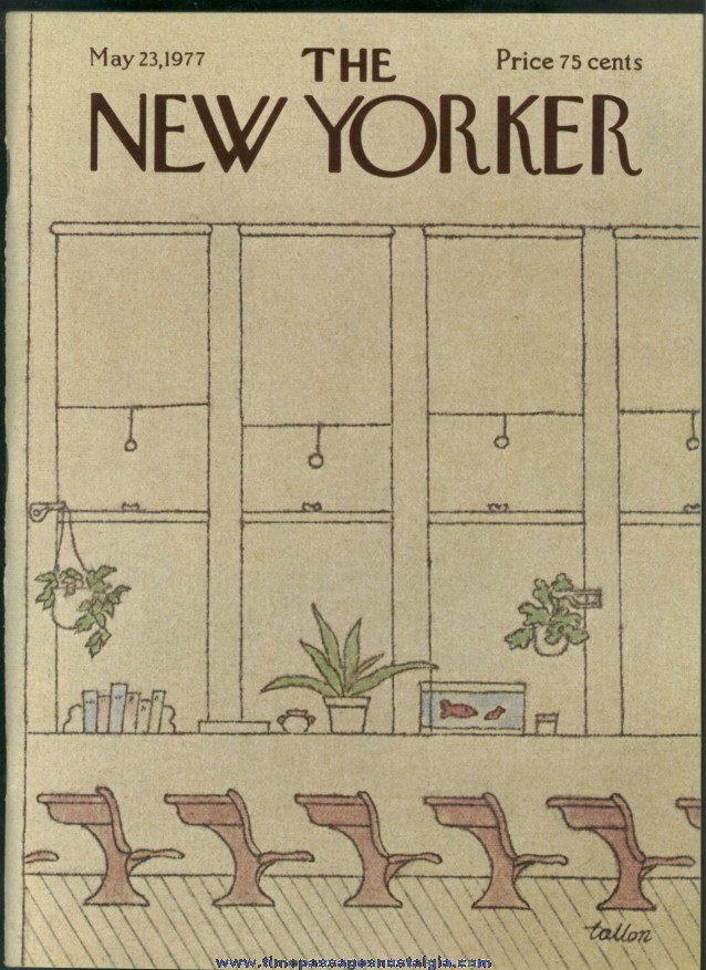New Yorker Magazine - May 23, 1977 - Cover by Robert Tallon