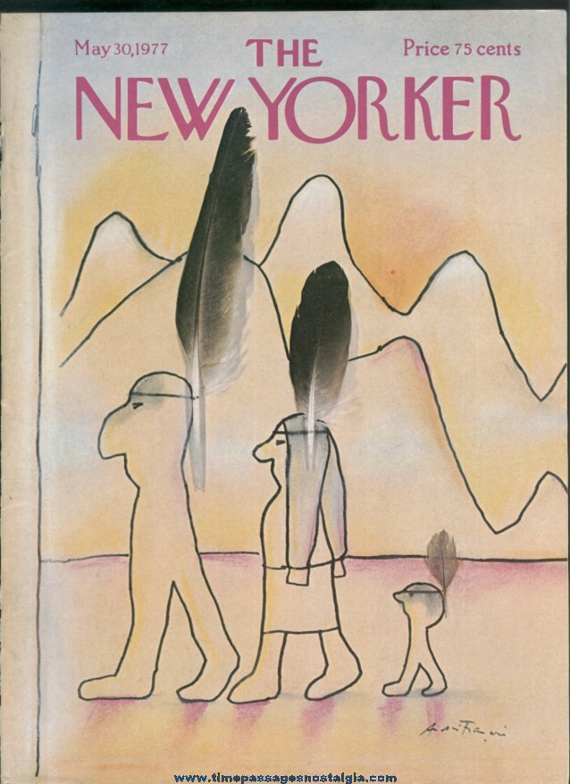 New Yorker Magazine - May 30, 1977 - Cover by Andre Francois