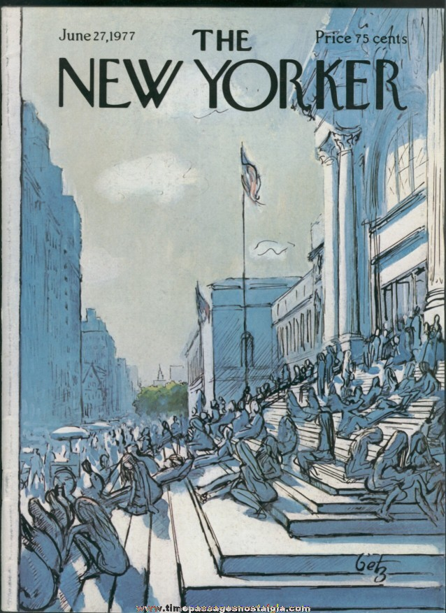 New Yorker Magazine - June 27, 1977 - Cover by Arthur Getz