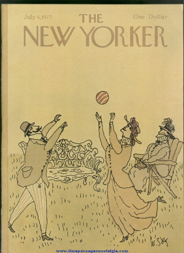 New Yorker Magazine - July 4, 1977 - Cover by William Steig